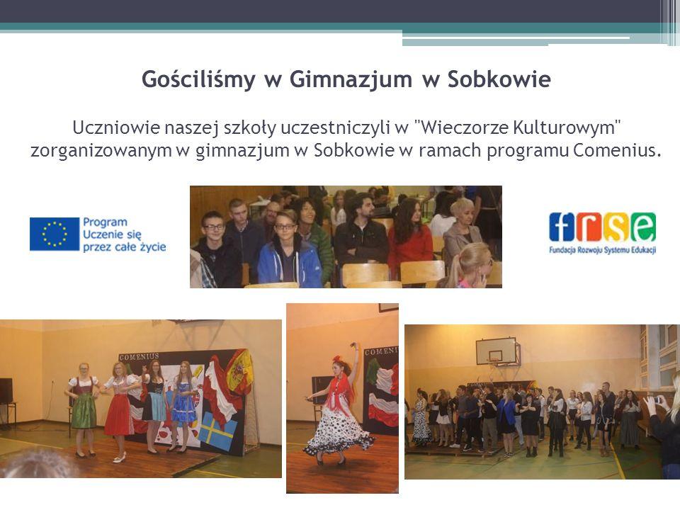 Gościliśmy w Gimnazjum w Sobkowie Uczniowie naszej szkoły uczestniczyli w Wieczorze Kulturowym zorganizowanym w gimnazjum w Sobkowie w ramach programu Comenius.