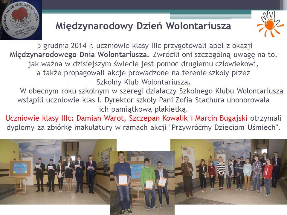 Międzynarodowy Dzień Wolontariusza 5 grudnia 2014 r