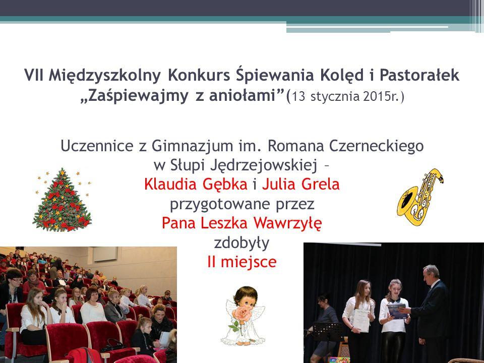 """VII Międzyszkolny Konkurs Śpiewania Kolęd i Pastorałek """"Zaśpiewajmy z aniołami (13 stycznia 2015r.) Uczennice z Gimnazjum im."""