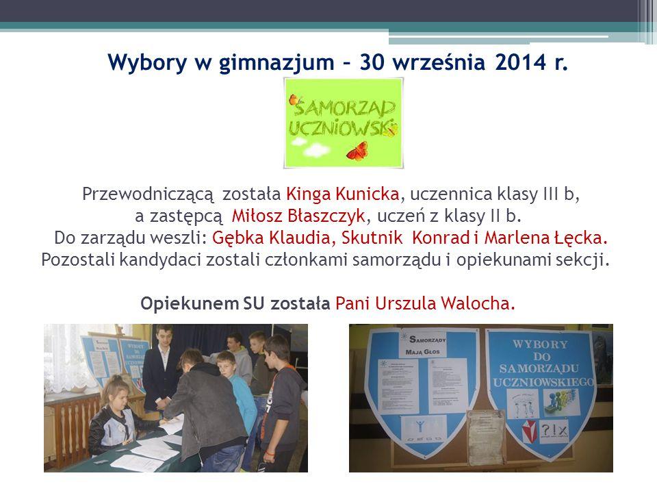 Wybory w gimnazjum – 30 września 2014 r.