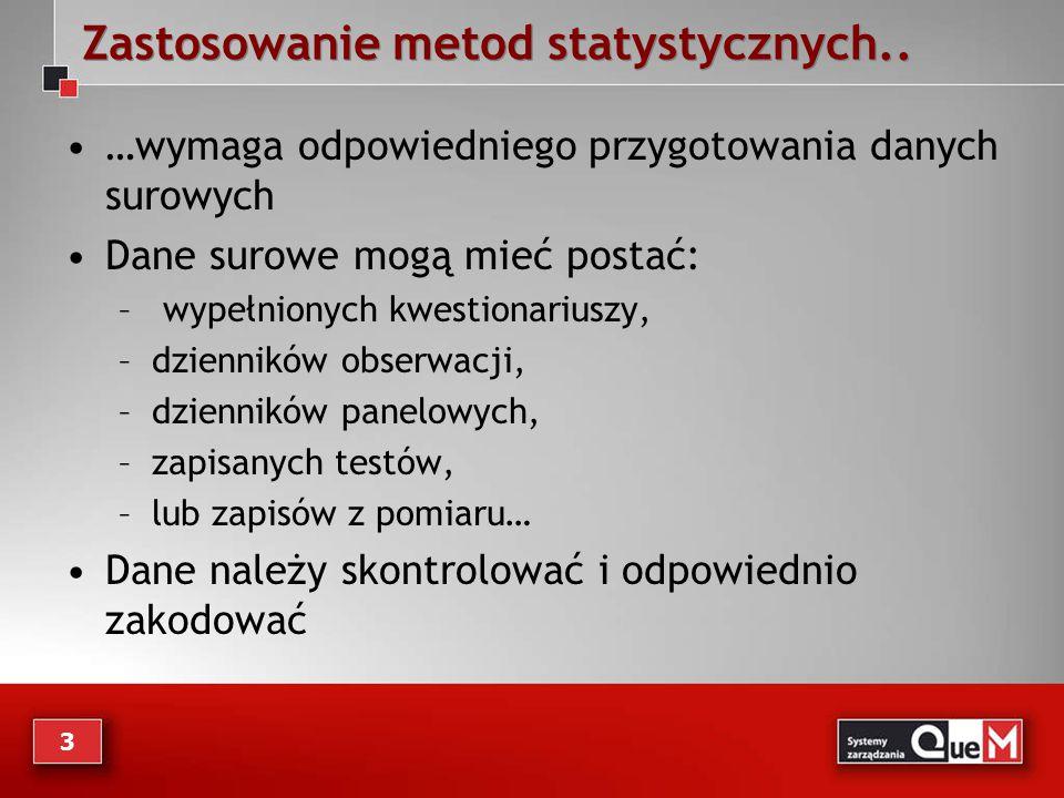 Zastosowanie metod statystycznych..