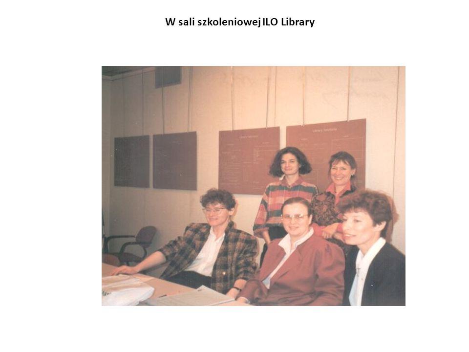 W sali szkoleniowej ILO Library