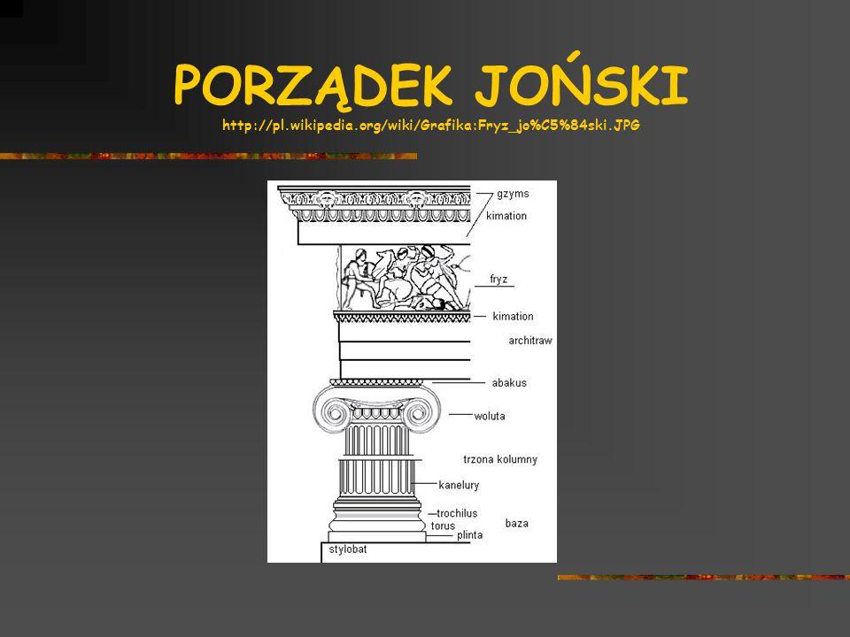 PORZĄDEK JOŃSKI http://pl.wikipedia.org/wiki/Grafika:Fryz_jo%C5%84ski.JPG