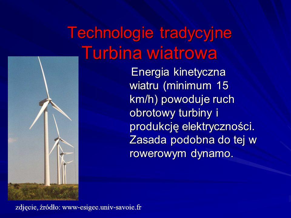 Technologie tradycyjne Turbina wiatrowa