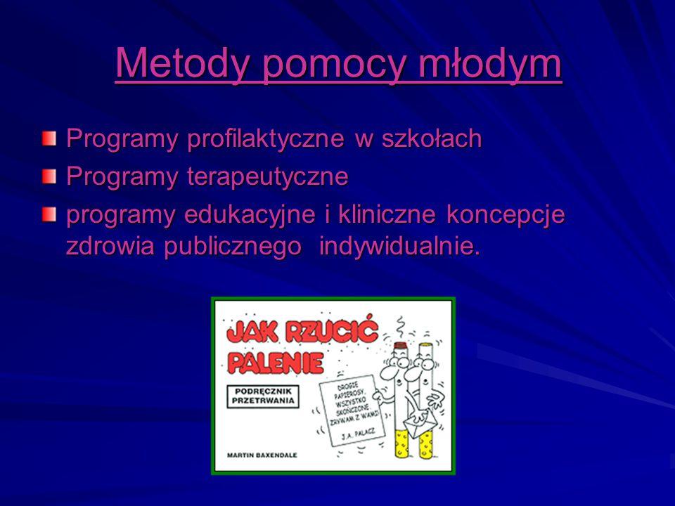 Metody pomocy młodym Programy profilaktyczne w szkołach