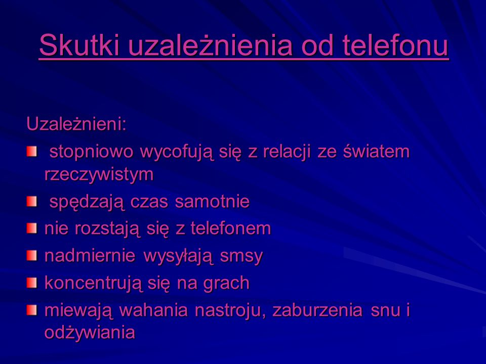 Skutki uzależnienia od telefonu