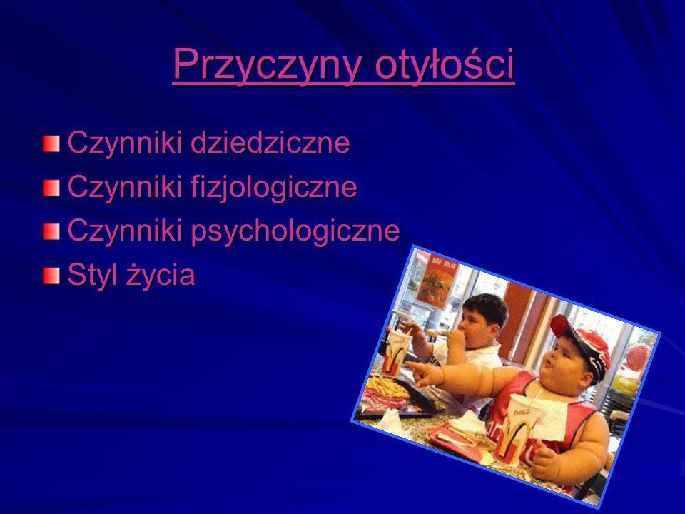 Przyczyny otyłości Czynniki dziedziczne Czynniki fizjologiczne