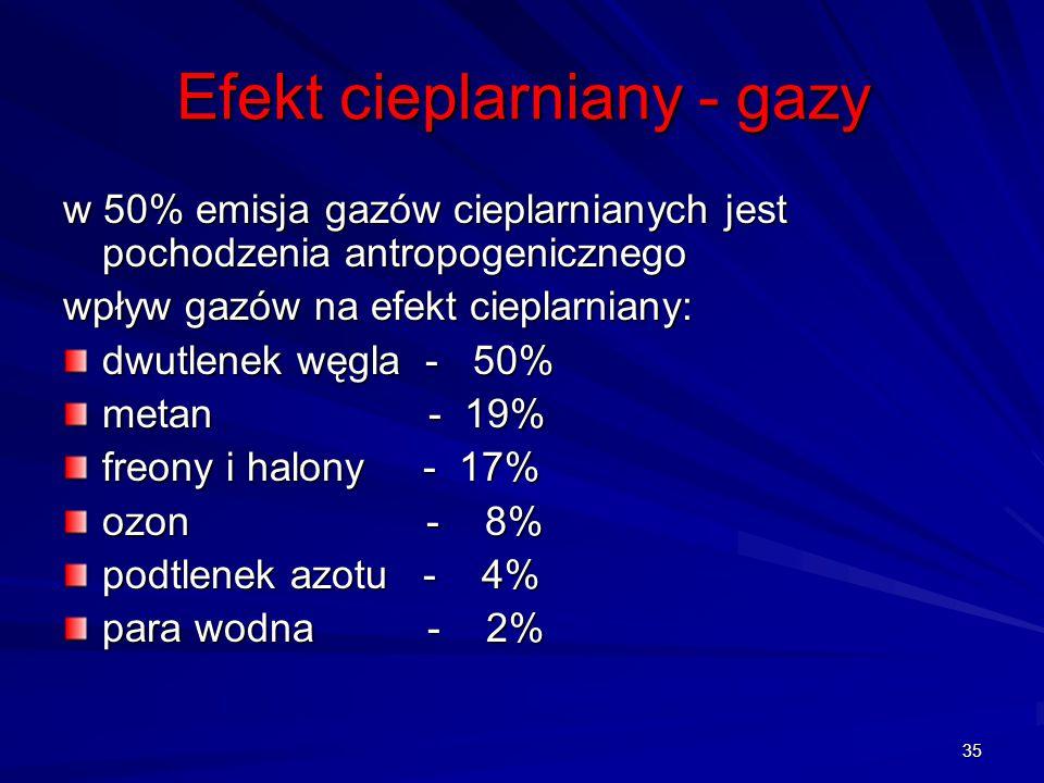 Efekt cieplarniany - gazy
