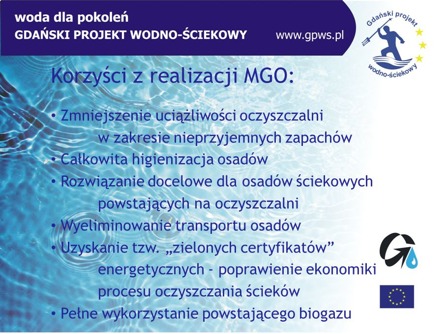 Korzyści z realizacji MGO: