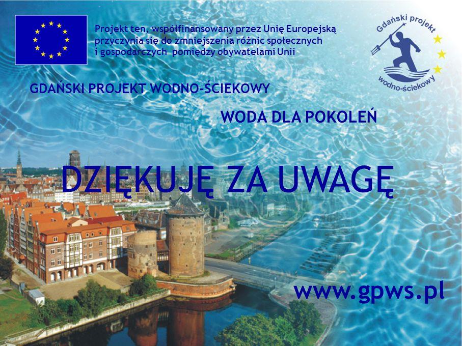 DZIĘKUJĘ ZA UWAGĘ www.gpws.pl WODA DLA POKOLEŃ