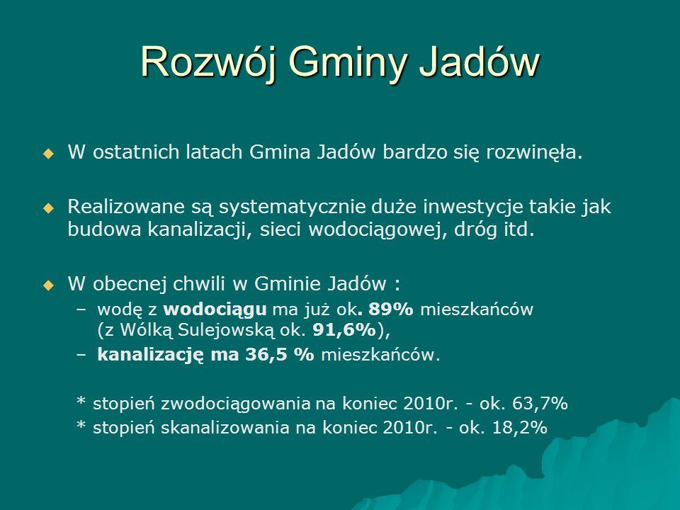 Rozwój Gminy Jadów W ostatnich latach Gmina Jadów bardzo się rozwinęła.