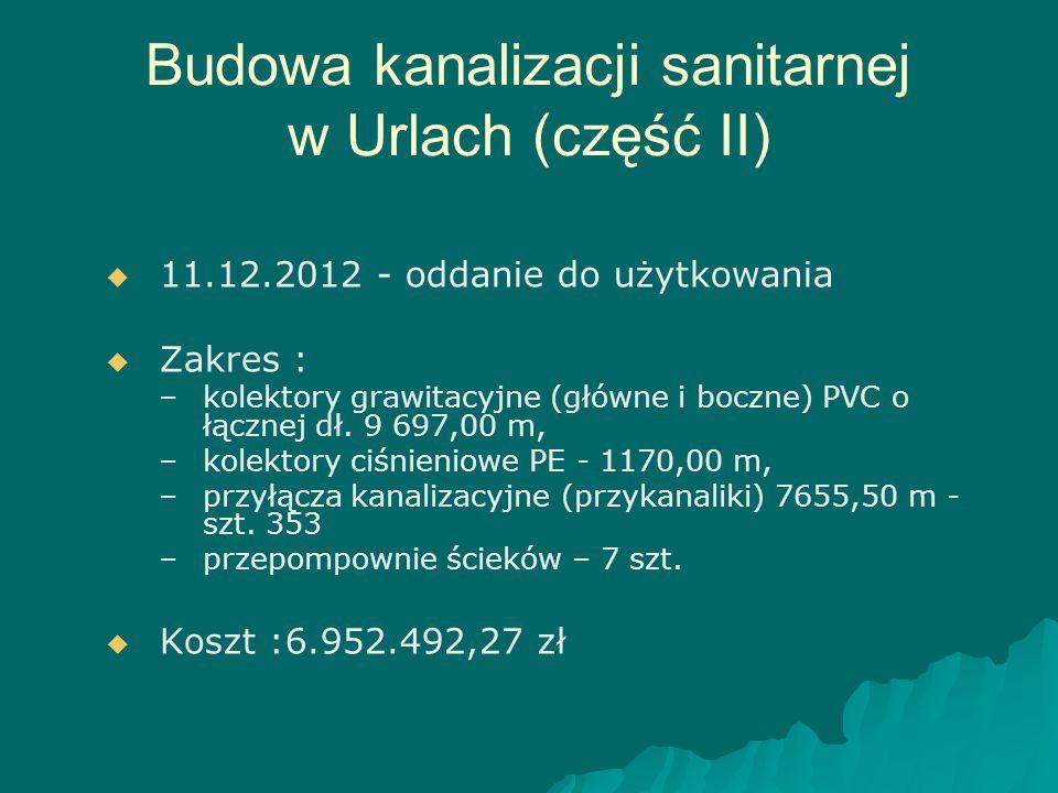 Budowa kanalizacji sanitarnej w Urlach (część II)