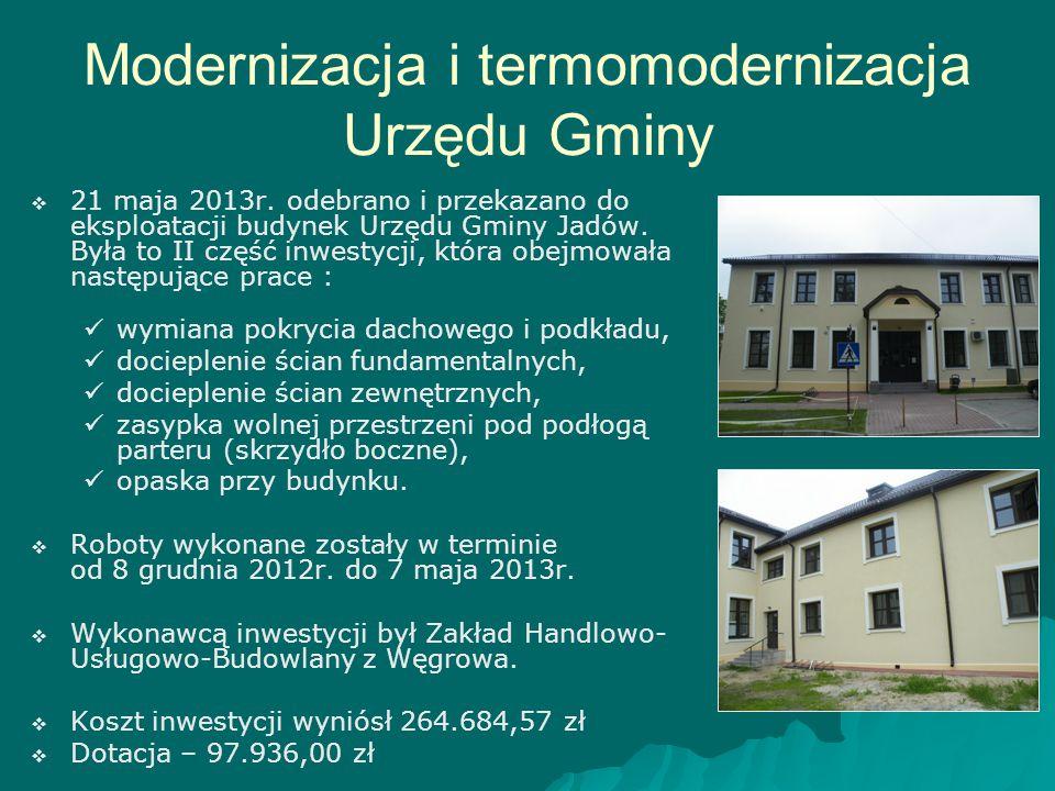 Modernizacja i termomodernizacja Urzędu Gminy