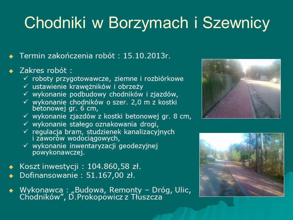 Chodniki w Borzymach i Szewnicy