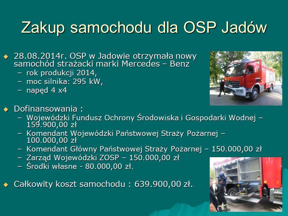 Zakup samochodu dla OSP Jadów