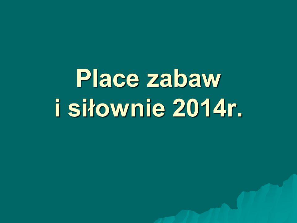 Place zabaw i siłownie 2014r.