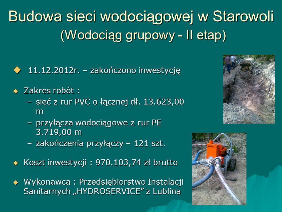 Budowa sieci wodociągowej w Starowoli (Wodociąg grupowy - II etap)