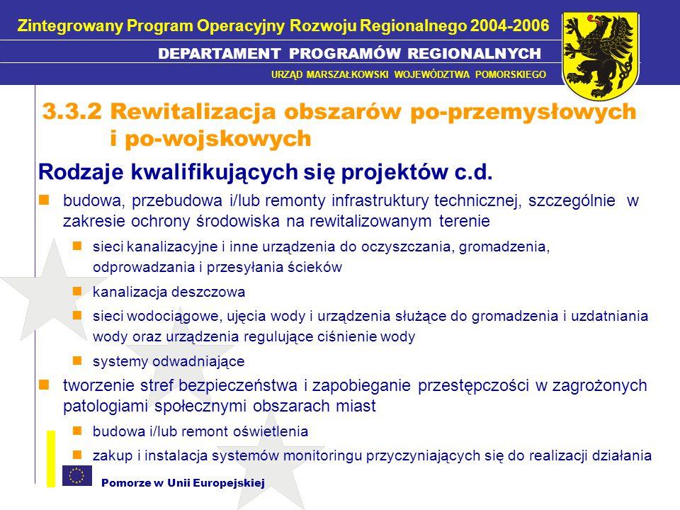 3.3.2 Rewitalizacja obszarów po-przemysłowych i po-wojskowych