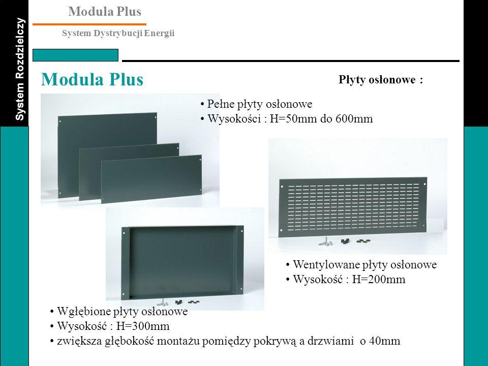 Płyty osłonowe : Pełne płyty osłonowe. Wysokości : H=50mm do 600mm. Wentylowane płyty osłonowe. Wysokość : H=200mm.