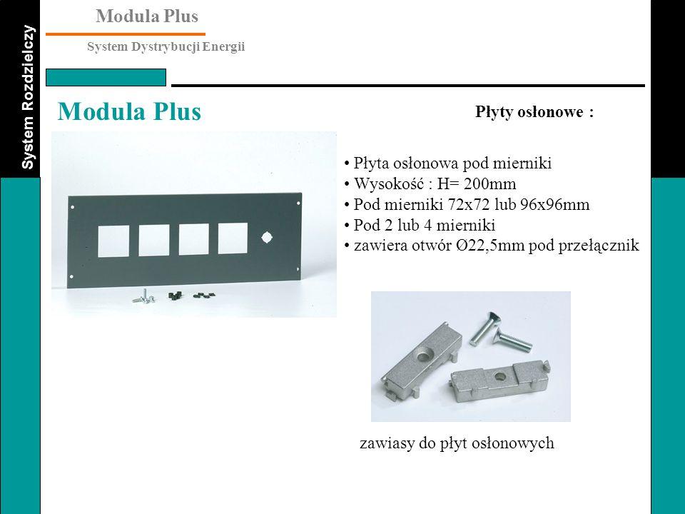Płyty osłonowe : Płyta osłonowa pod mierniki. Wysokość : H= 200mm. Pod mierniki 72x72 lub 96x96mm.