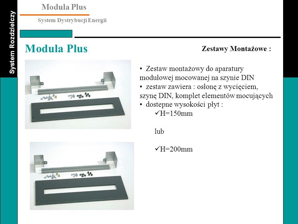 Zestawy Montażowe : Zestaw montażowy do aparatury modułowej mocowanej na szynie DIN.