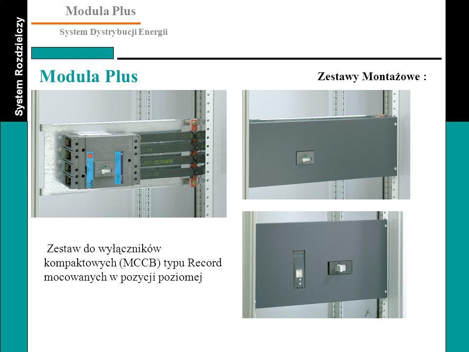 Zestawy Montażowe : Zestaw do wyłączników kompaktowych (MCCB) typu Record mocowanych w pozycji poziomej.