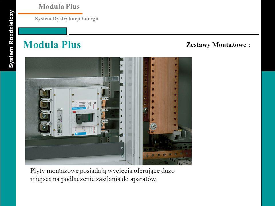Zestawy Montażowe : Płyty montażowe posiadają wycięcia oferujące dużo miejsca na podłączenie zasilania do aparatów.