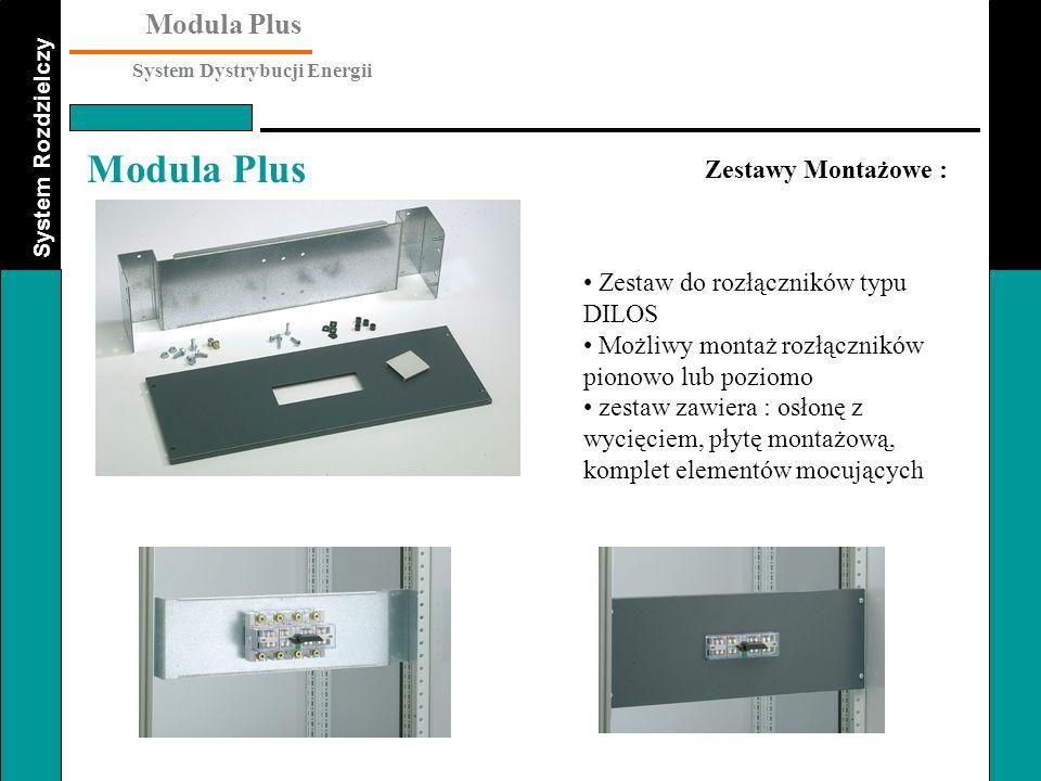 Zestawy Montażowe : Zestaw do rozłączników typu DILOS. Możliwy montaż rozłączników pionowo lub poziomo.