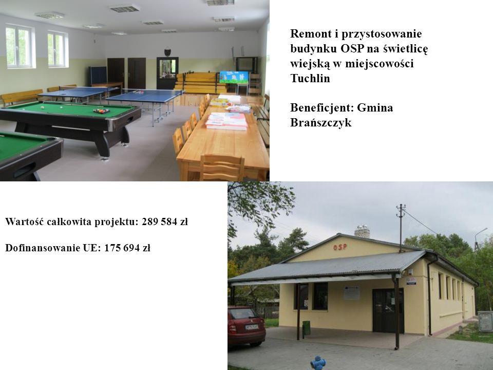 Beneficjent: Gmina Brańszczyk
