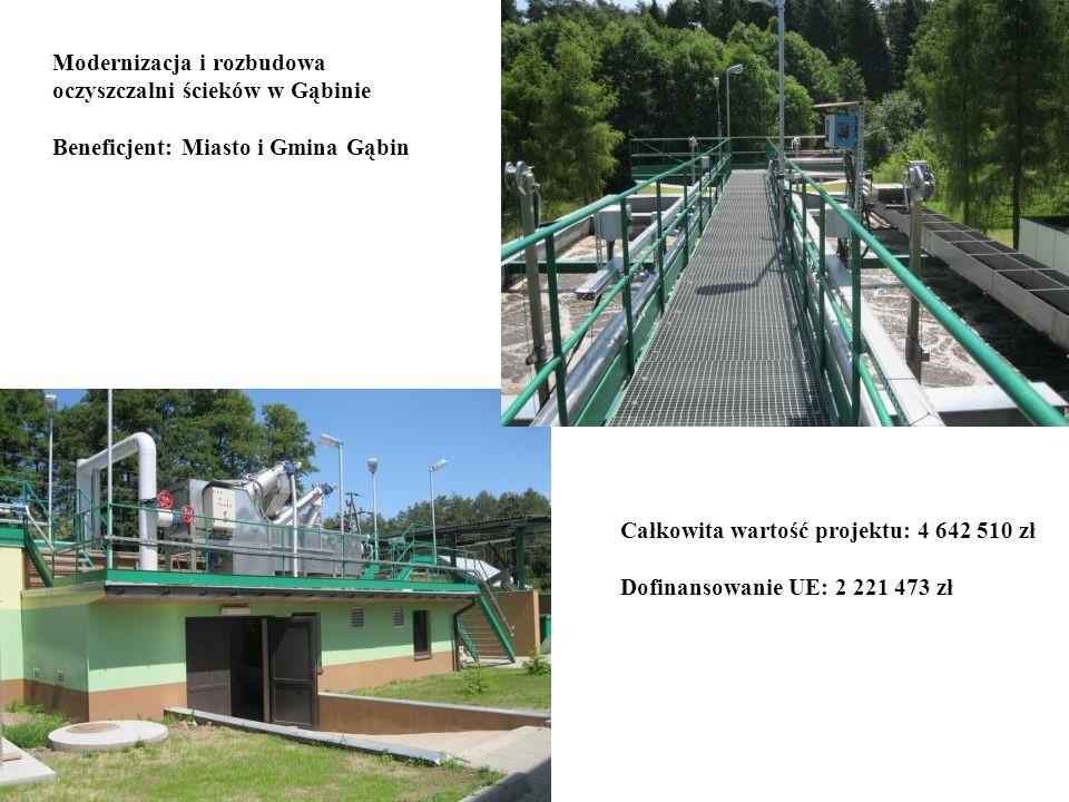 Modernizacja i rozbudowa oczyszczalni ścieków w Gąbinie