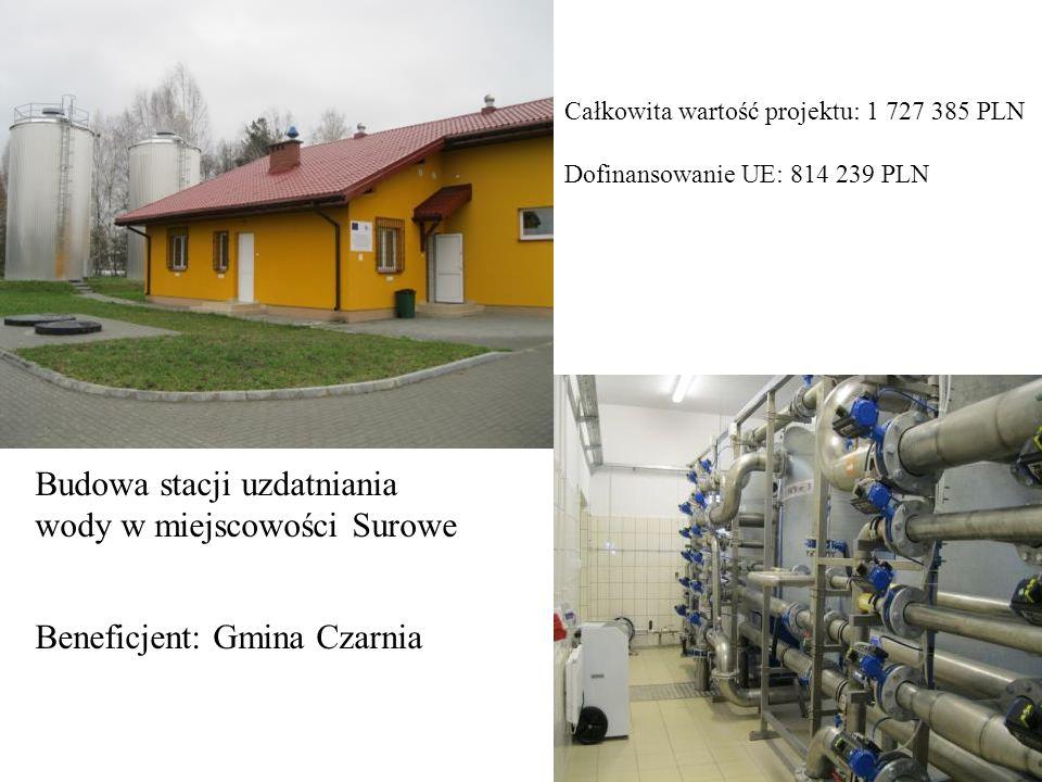 Budowa stacji uzdatniania wody w miejscowości Surowe