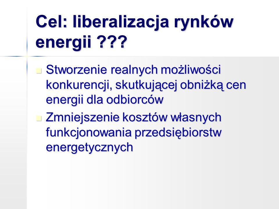 Cel: liberalizacja rynków energii