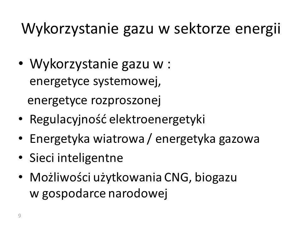 Wykorzystanie gazu w sektorze energii