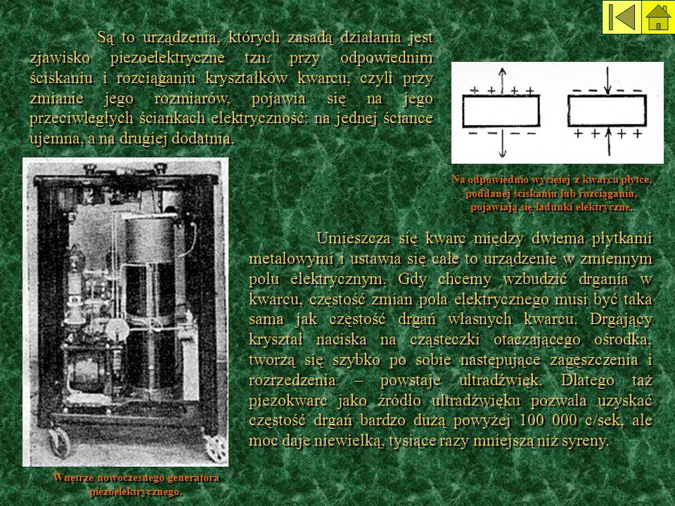 Wnętrze nowoczesnego generatora piezoelektrycznego.