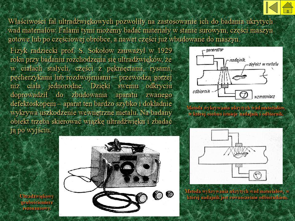 Ultradźwiękowy grubościomierz rezonansowy.