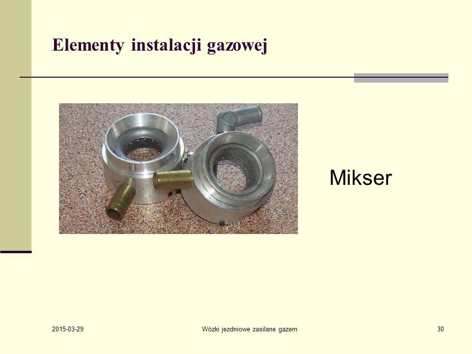 Elementy instalacji gazowej