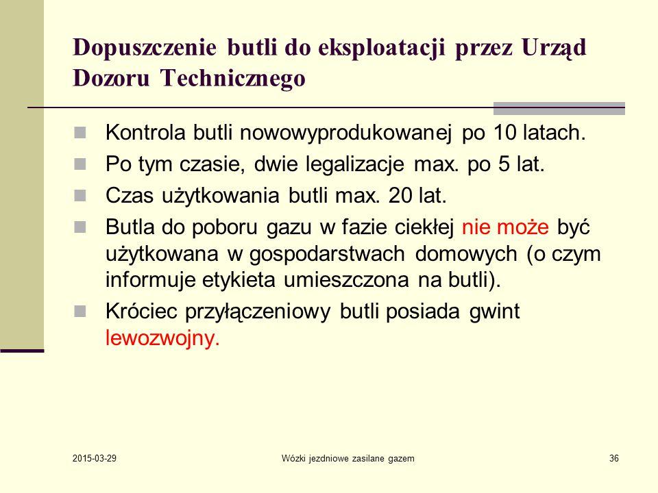 Dopuszczenie butli do eksploatacji przez Urząd Dozoru Technicznego