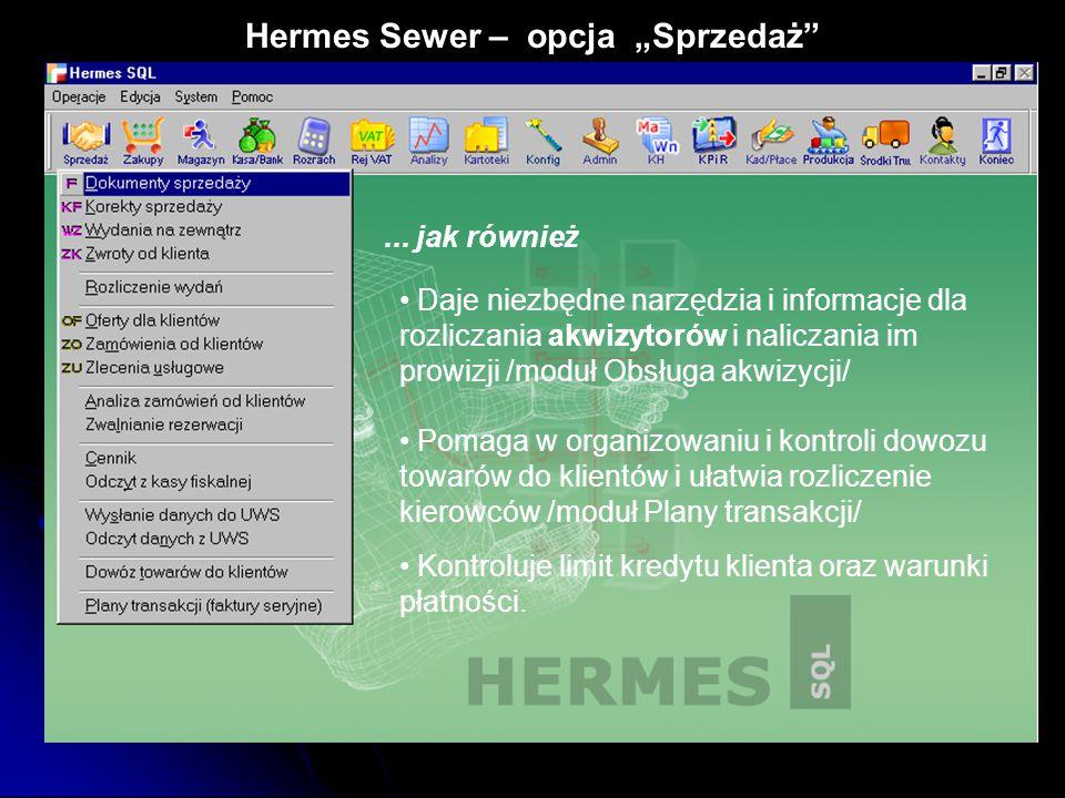 """Hermes Sewer – opcja """"Sprzedaż"""