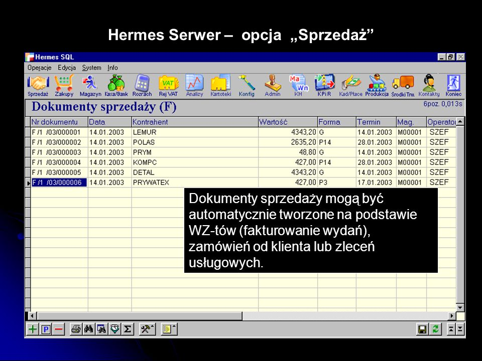 """Hermes Serwer – opcja """"Sprzedaż"""