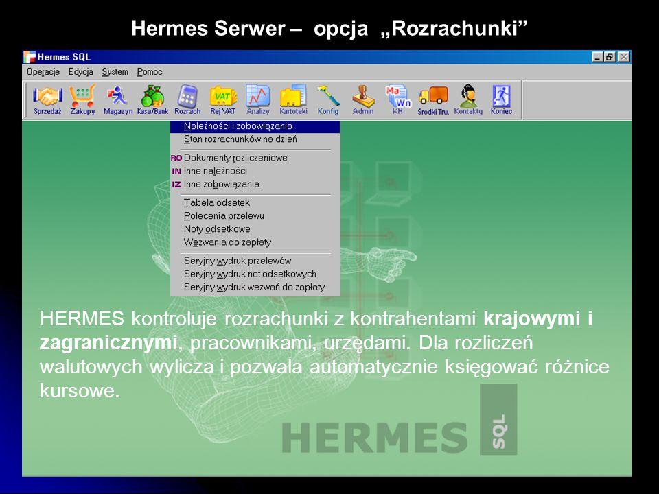 "Hermes Serwer – opcja ""Rozrachunki"