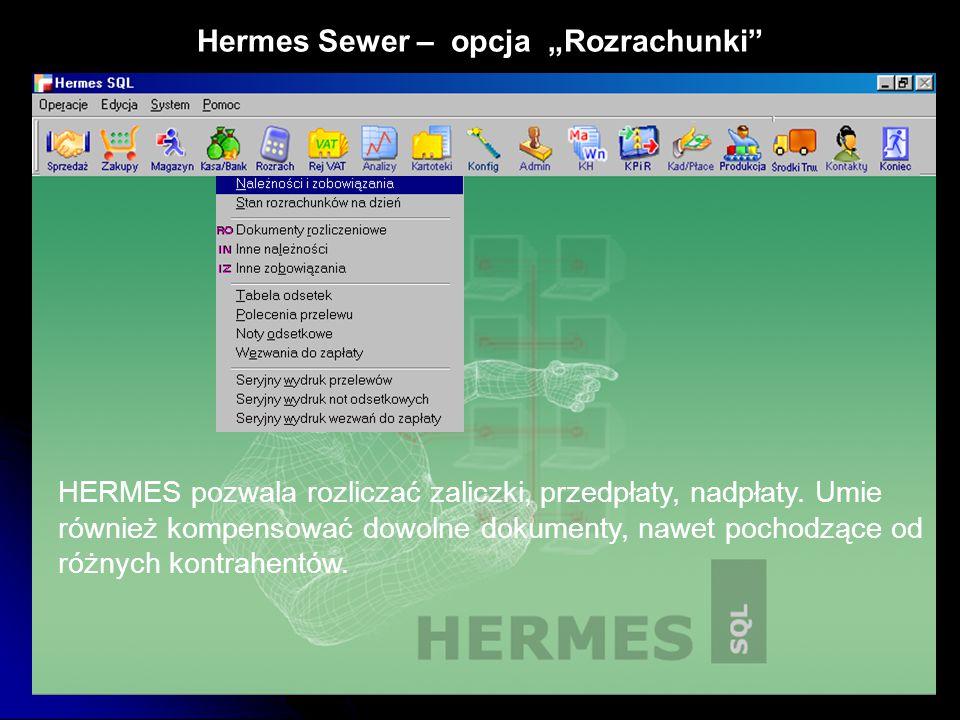 "Hermes Sewer – opcja ""Rozrachunki"
