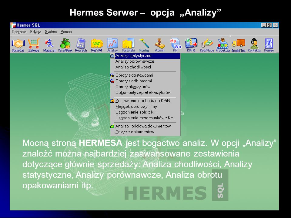 """Hermes Serwer – opcja """"Analizy"""