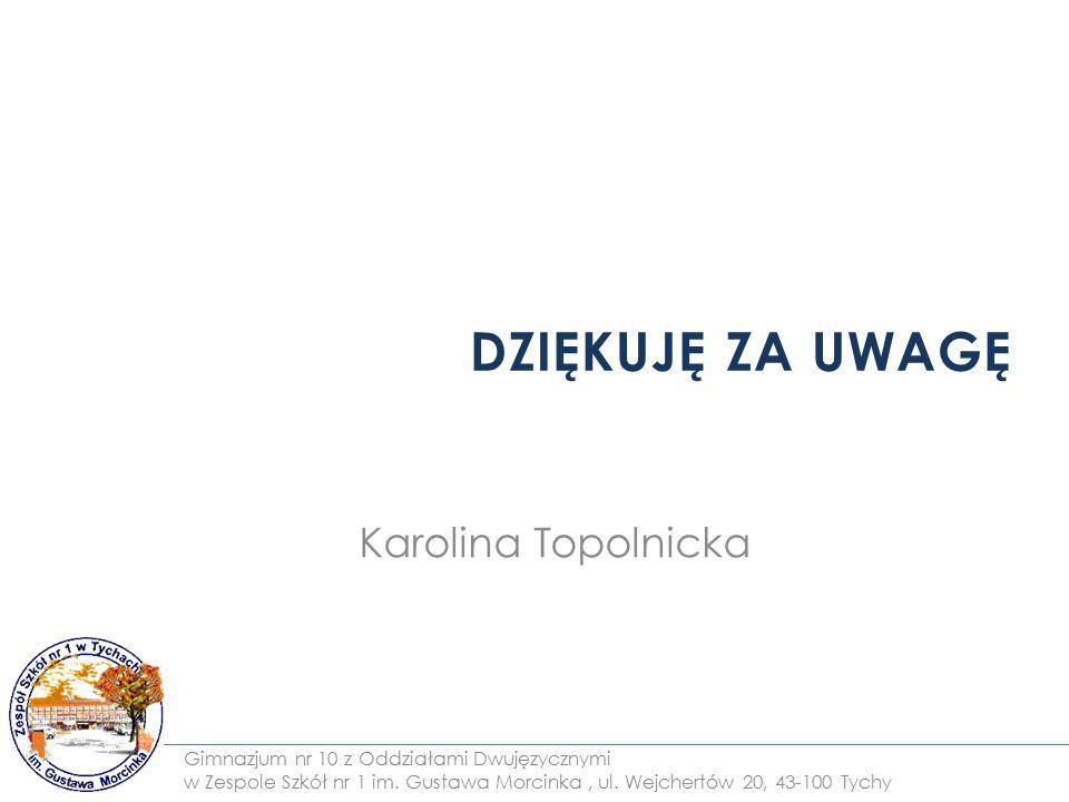 DZIĘKUJĘ ZA UWAGĘ Karolina Topolnicka