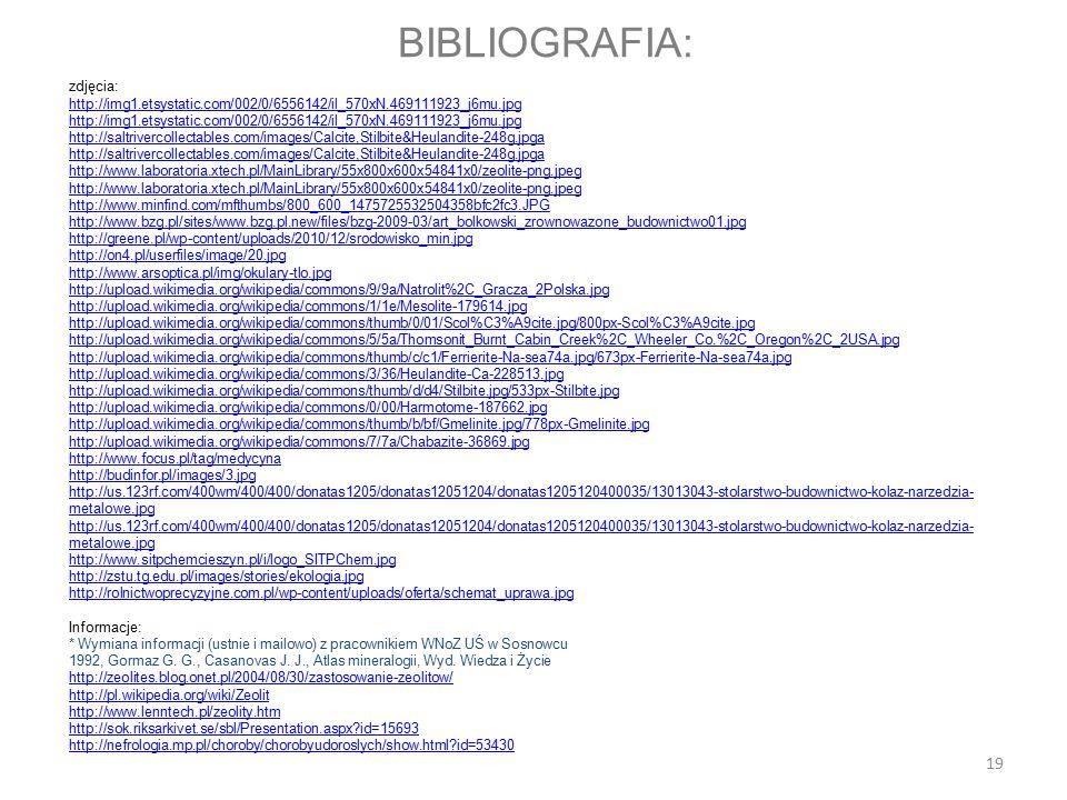 BIBLIOGRAFIA: zdjęcia: