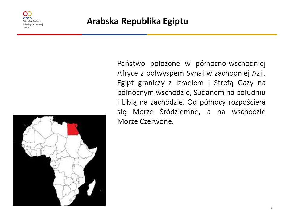 Ustaleni/zatrzymani za nielegalny pobyt Arabska Republika Egiptu terytorium RP