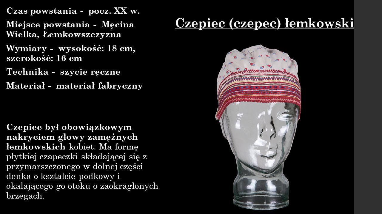 Czepiec (czepec) łemkowski