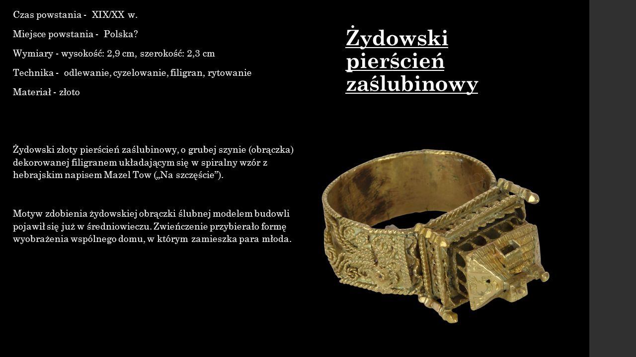 Żydowski pierścień zaślubinowy