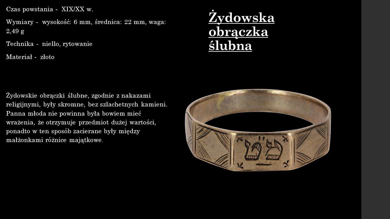 Żydowska obrączka ślubna