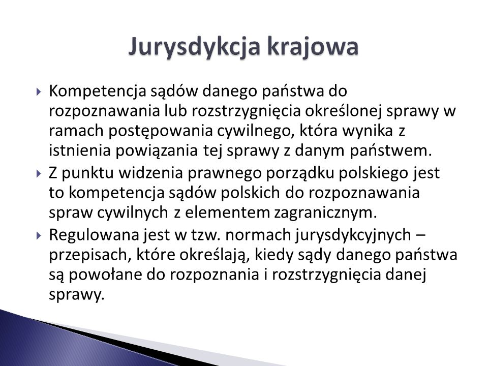 Jurysdykcja krajowa