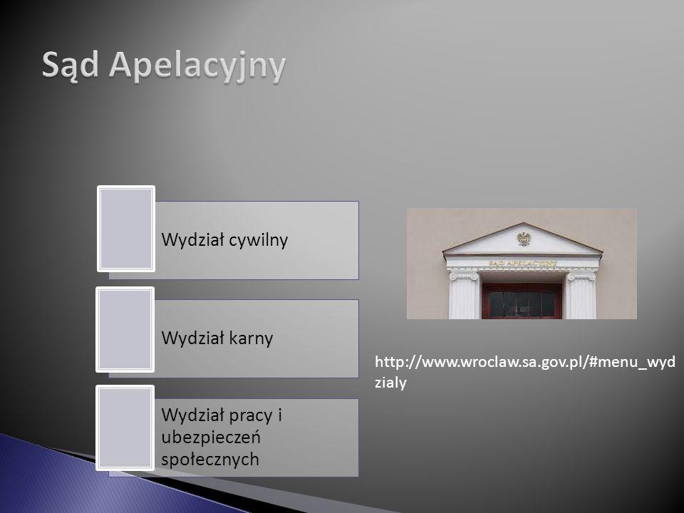 Sąd Apelacyjny http://www.wroclaw.sa.gov.pl/#menu_wydzialy